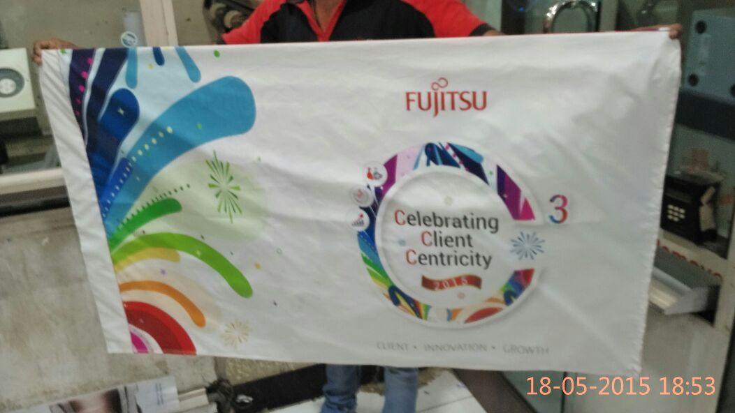 Flag printing at Fujitsu