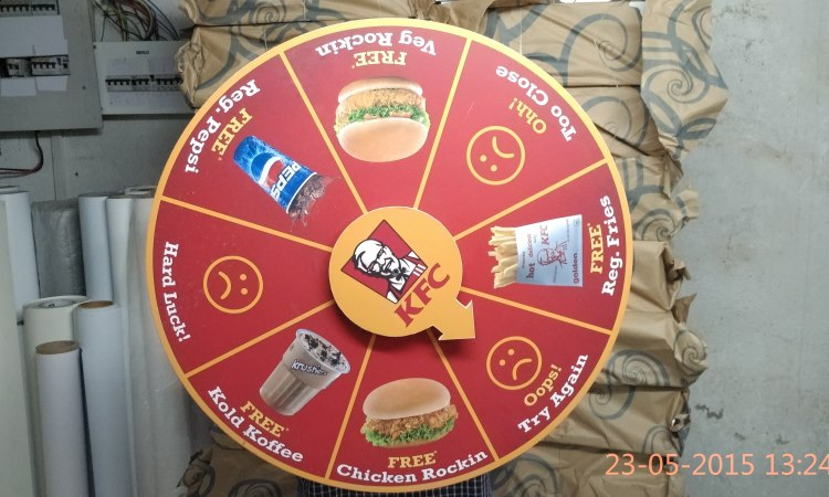 Wheel of fortune game created for KFC