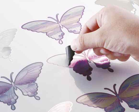 Shape cut stickers of butterflies make for beautiful print and cut decals