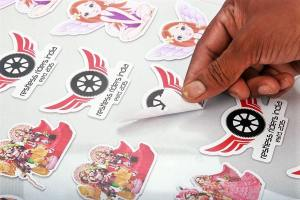 Shape cut stickers and decals Image