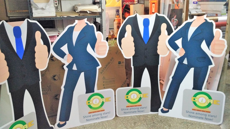 cnc router shape cut standee