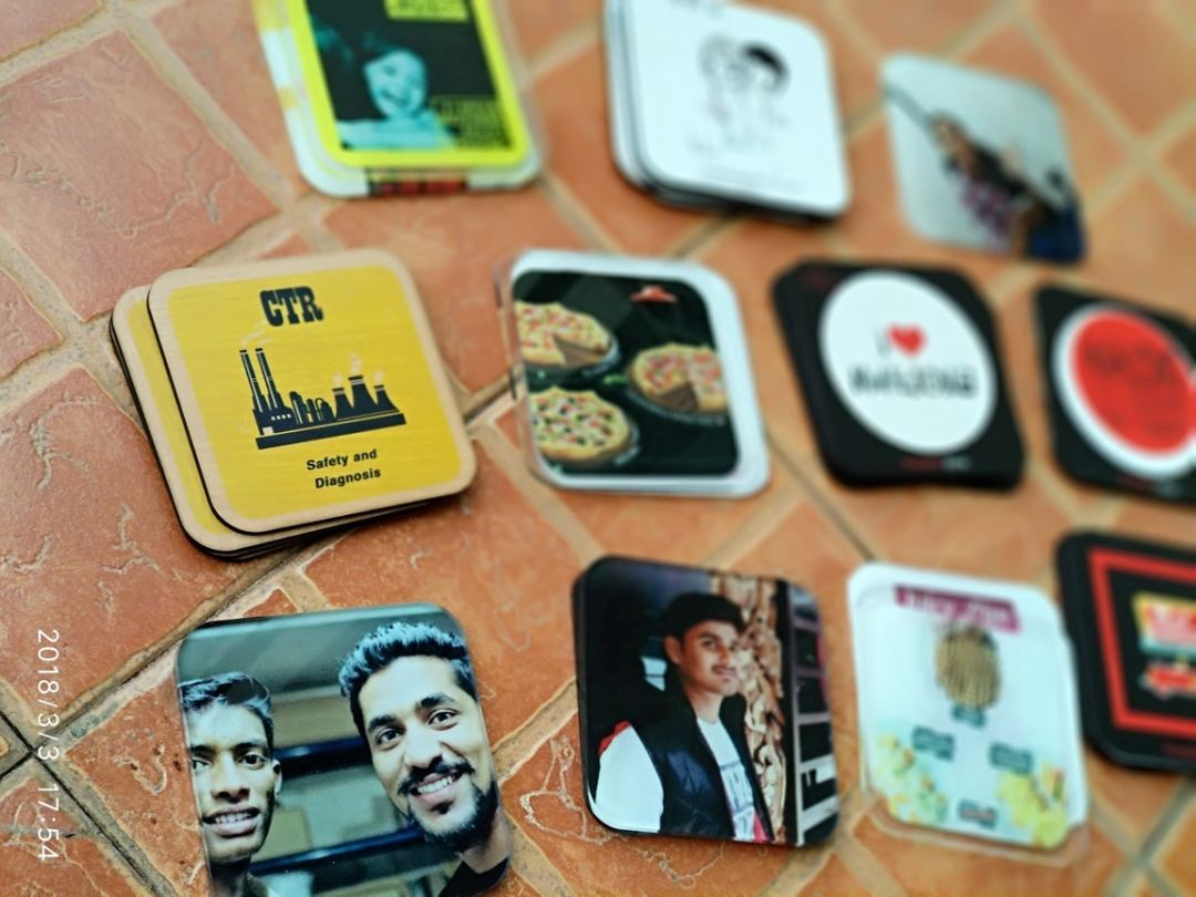 printed table coasters having your own personal design
