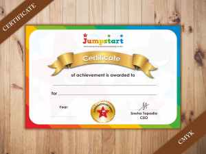 certificate printing service for a nursery school