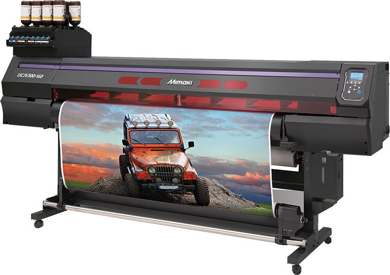 mimaki UCJV wide format printer using UV inks