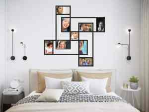 novel design idea for multiple photos in a frame as a great interior design concept