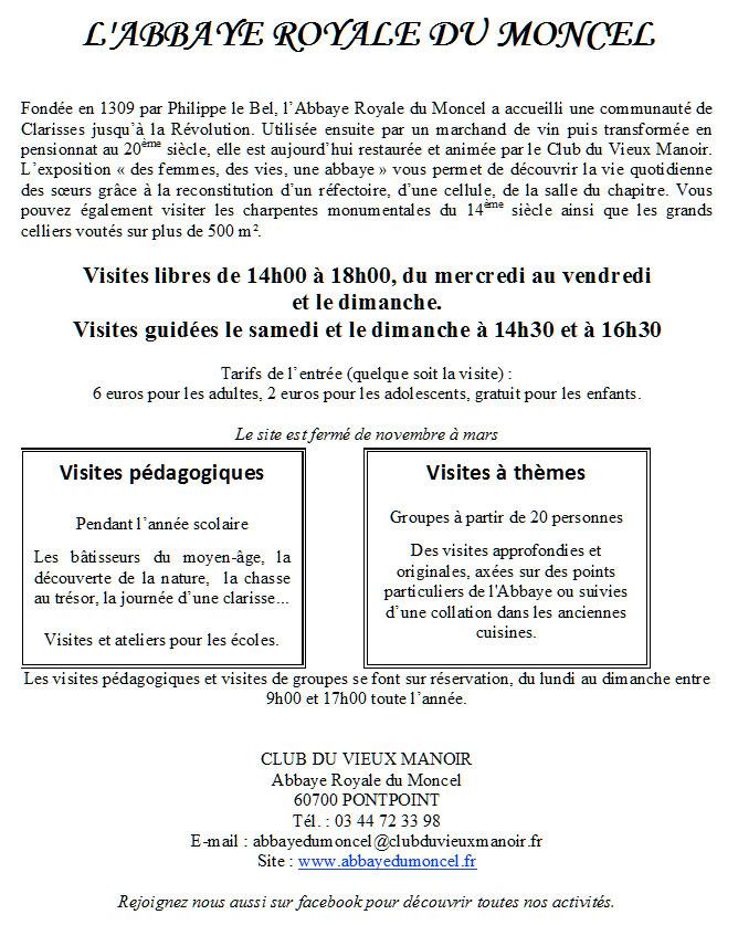 abbaye-moncel - histoire et visite - Expo Orchidée 2016