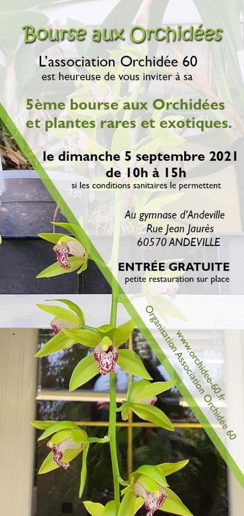 5 ème bourse aux orchidees et plantes rares à andeville le 5 septembre 2021