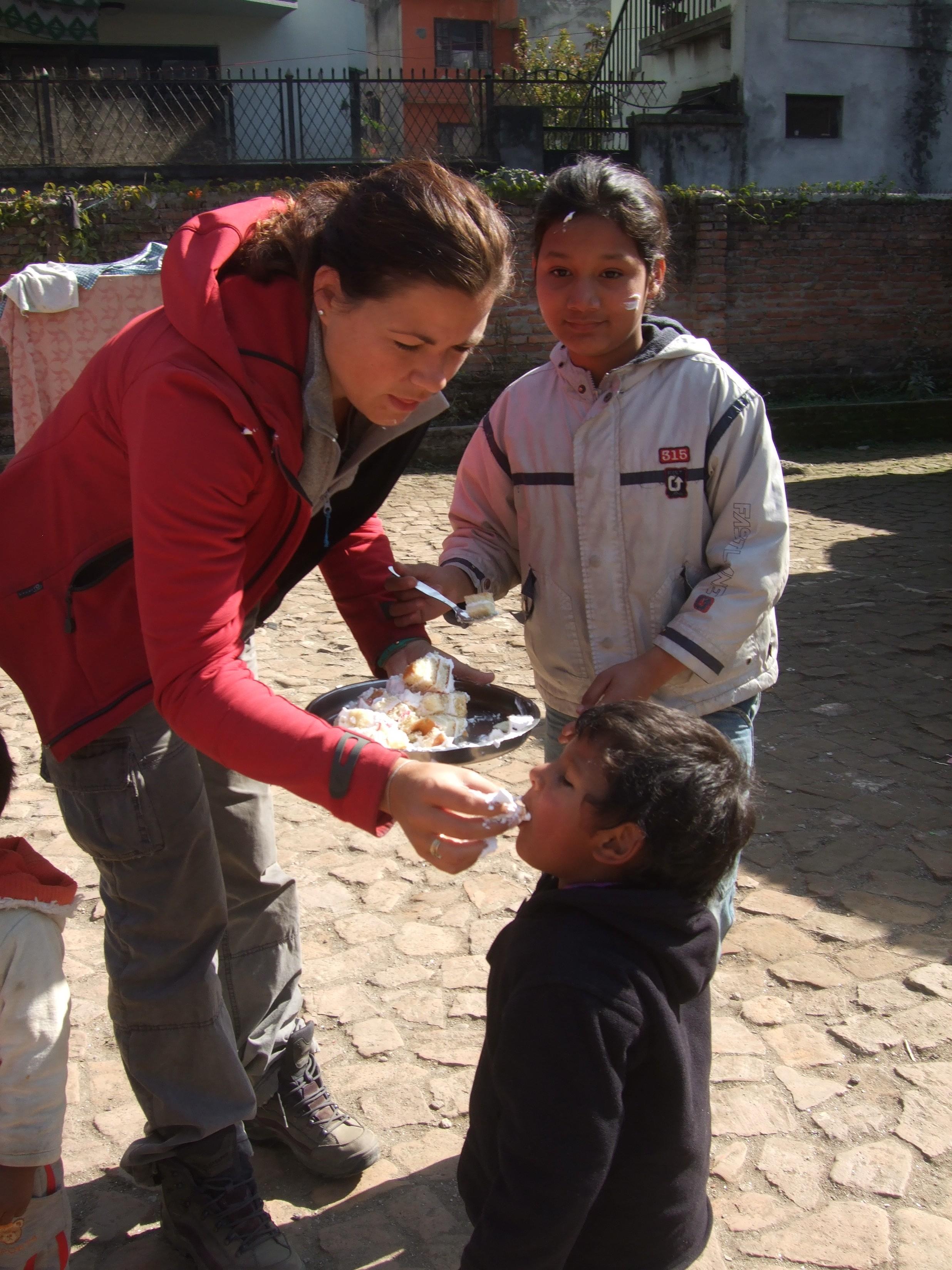 Celebrating Katrins Birthday Orchid Garden Nepal