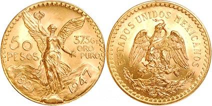 50 pesos-piece or_or et compagnie