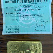 Lingot OR avec Certificat