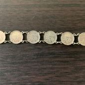 Bracelet argent avec pièces de 50 centimes - Porte monnaie pour pièce en Or - achat or et compagnie