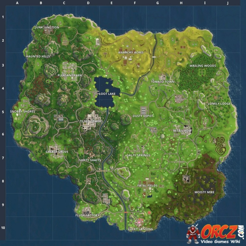 Fortnite Battle Royale Map  Orczcom The Video Games Wiki