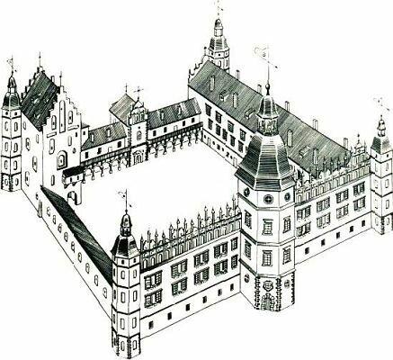 Замок в XVII веке. Реконструкция Сергея Прищепы
