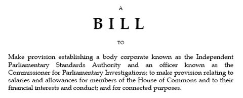Parliamentary Standards Bill 2009