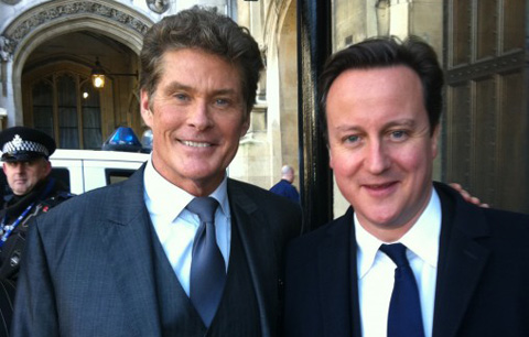 """The Hoff"" David Hasselhoff and David Cameron"