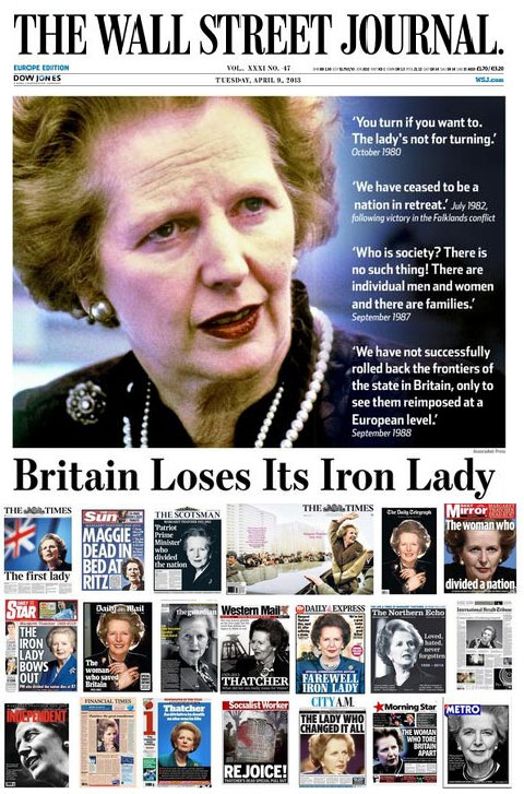 thatcher-front-pages