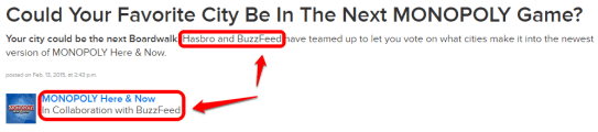 buzzfeed and monopoly