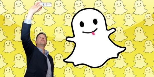 clegg selfie snapchat