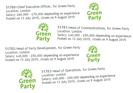 green party jobs