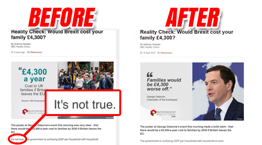 Before After BBC Reality Check