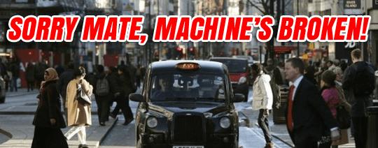 black cab card machine