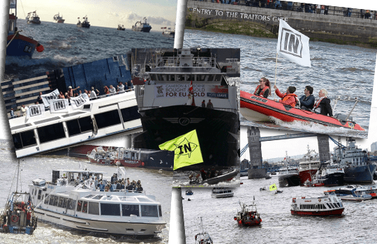 brexit flotilla collage