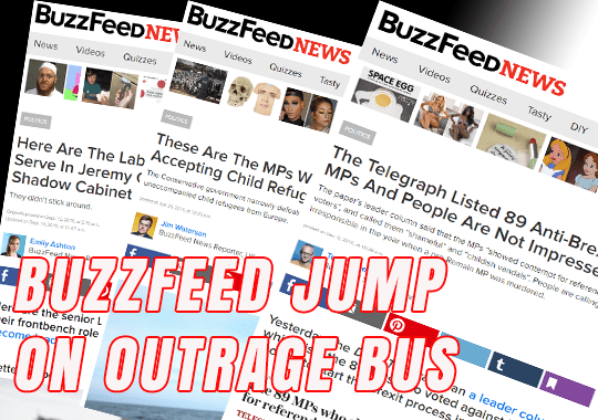 BuzzFeed Jump on Outrage Bus