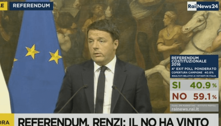 Renzi Loses Referendum – Resigns