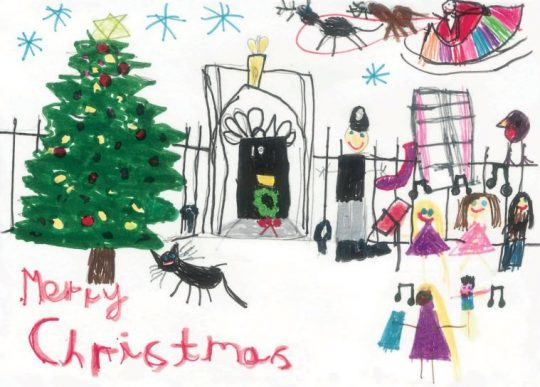 Theresa and philip mays christmas cards guido fawkes no photo of herself a la dave instead theresa may has gone with a safe but sweet choice of three cards drawn by children in her constituency m4hsunfo
