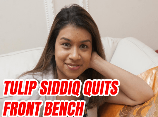 Article 50: Tulip Siddiq Resigns