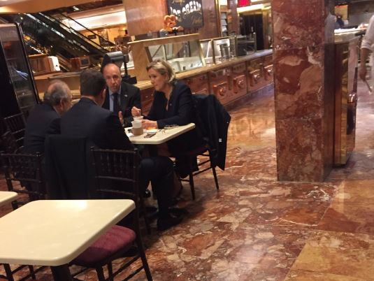 PICTURE: Le Pen in Trump Tower