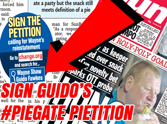 Click to Sign Guido's #Piegate Pietition