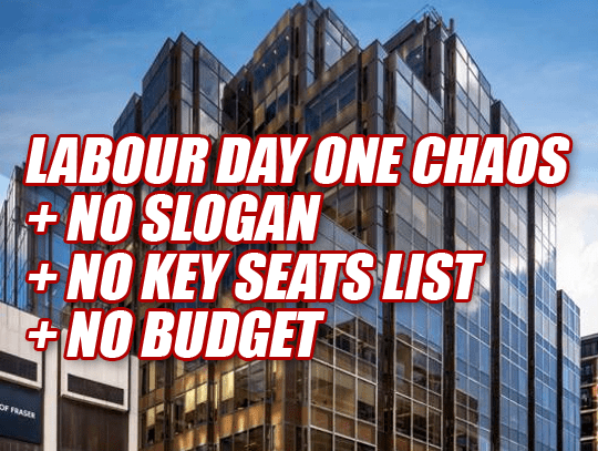 Labour Staff Told: No Slogan, No Key Seats List, No Budget