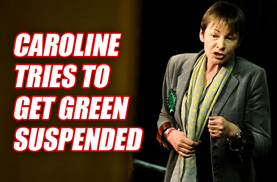 Caroline Lucas Tries to Get Green Suspended for Tweeting Guido