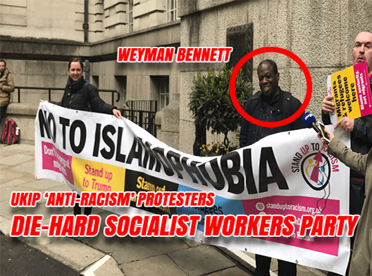Leader of Anti-UKIP Protest Embroiled in SWP Rape Scandal