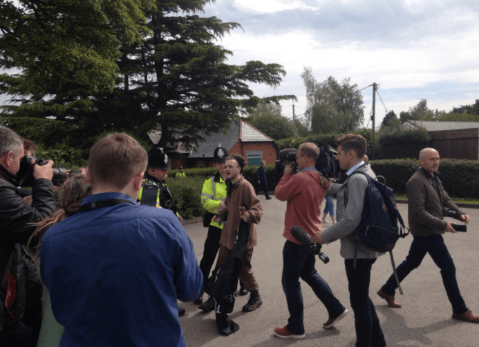 Protester Arrested at May Wrexham Visit