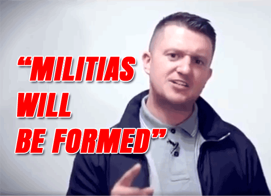 "Tommy Robinson Called British Muslims ""Enemy Combatants"""