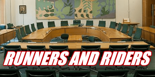 Select Committees Runners and Riders