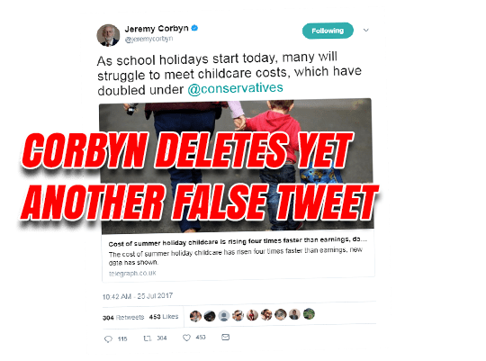 Corbyn Deletes Another Wrong Tweet