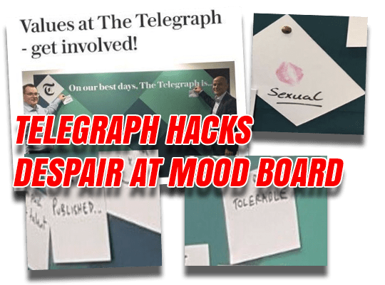 Mood Board Reveals Despair of Telegraph Hacks