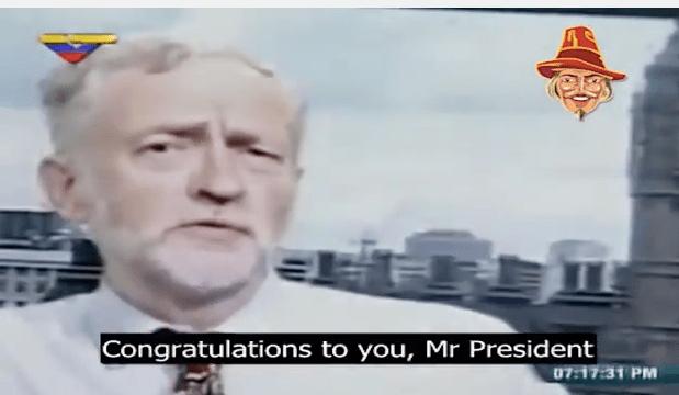 WATCH: Corbyn Congratulates Venezuelan Dictator Maduro