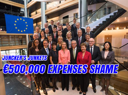 Juncker's Junkets: Commissioners' €500,000 Expenses