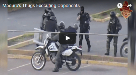 Watch: Maduro's Thugs Executing Opponents