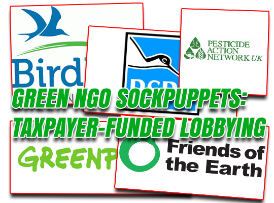Green NGOs Spend Taxpayers Millions Lobbying Government
