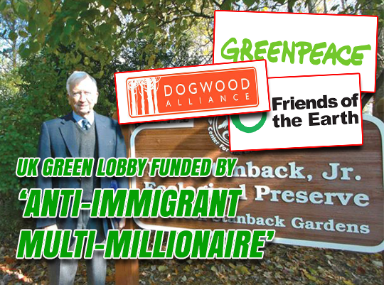 UK Green Lobby Funded by Anti-Immigrant Multi-Millionaire