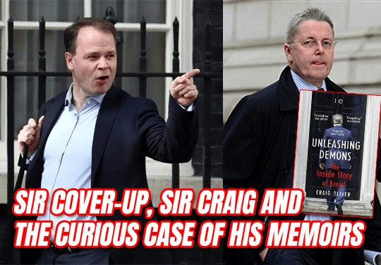 Sir Cover-Up, Sir Craig and the Curious Case of His Memoirs