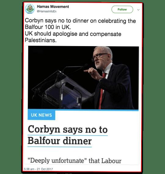 Hamas Praises Corbyn