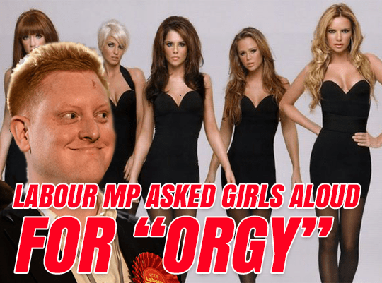 "Labour MP Asked Girls Aloud for ""Orgy"""