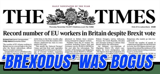 Brexodus Was Bogus