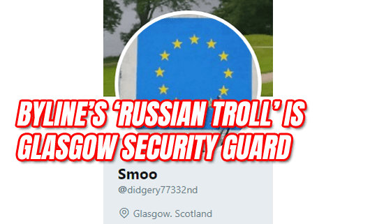 Byline Outs Russian Troll But It's a Security Guard from Glasgow